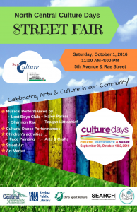 North Central Culture Days Street Fair Poster