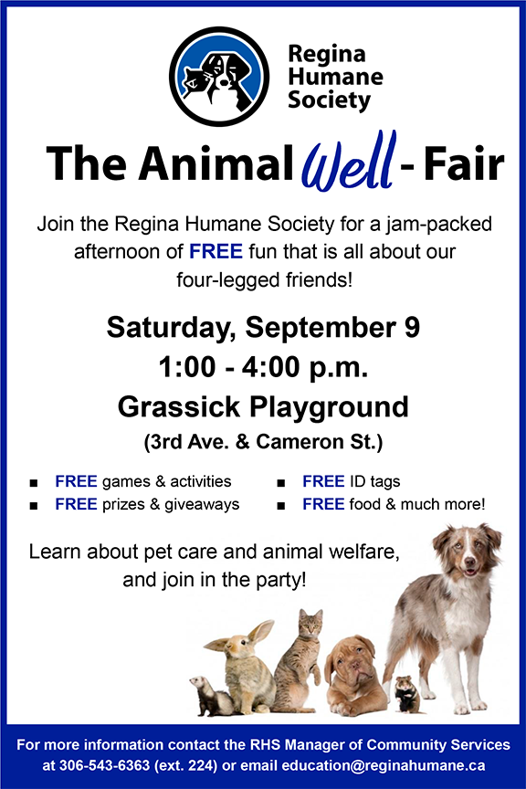 Animal Well Fair   North Central Community Association Regina